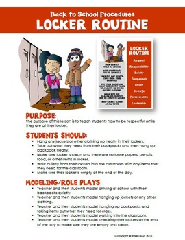 Back to School Procedures for Student Lockers