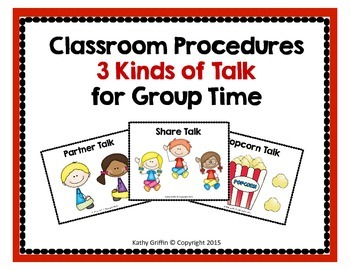 Back to School Procedures for Talking in Group Time