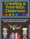 Back to School Professional Development:  Creating a Print