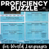 Back to School: Proficiency Puzzle - language proficiency levels - 1st week
