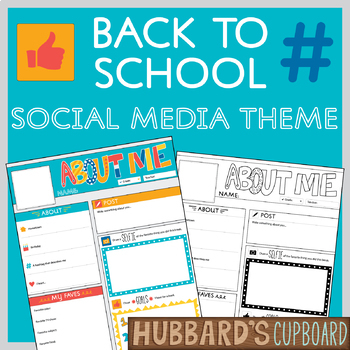All About Me Facebook Template / Back to School / First Week of School