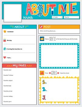 All About Me / Back to School Activities / Back to School Bulletin Boards