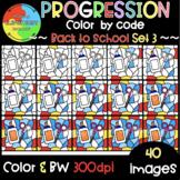 Back to School Progression Color by Code ❤️Progression Cli