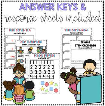 Back to School Project Based Learning August - Kindergarten