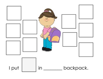 Back to School Pronoun Activities