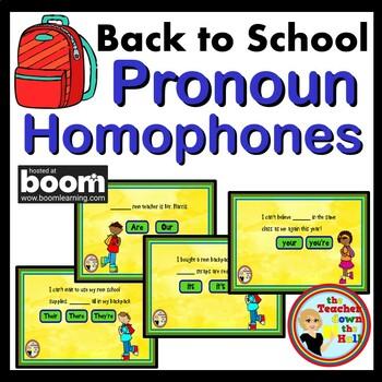 Pronoun Homophones BOOM Cards