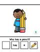 Back to School Pronoun Pack
