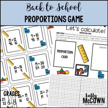 Back to School Proportions Game