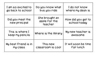 Back to School Punctuation Flipbook