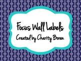 Back to School Purple and Turquoise Focus Wall Labels