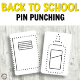 Back to School Push Pin Cards for Fine Motor activities