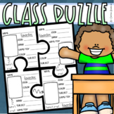 Back to School Puzzle First Week Activity All About Me Bulletin Board Display