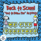 Back to School Puzzle Activity