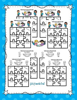 Back to School Puzzle Theme Activities