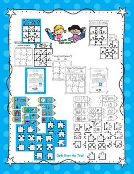 Back to School Puzzle Theme Activities for First Grade