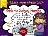 Back to School Puzzles:Focus Numbers 1-10 (Multiple Representation Practice)