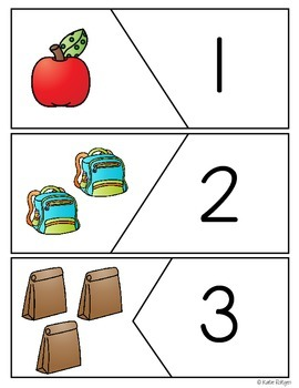 Back to School Puzzles {Numbers 1-20}