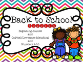 Back to School Puzzles (PreK-K)
