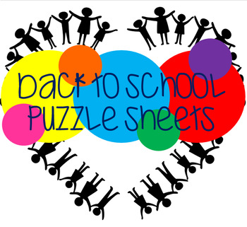 Back to School Puzzles - Printable Activities