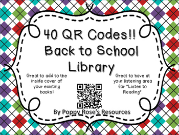 Back to School QR Code Library.