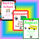 Back to School QR Code Listening Center w/ Comprehension BUNDLE