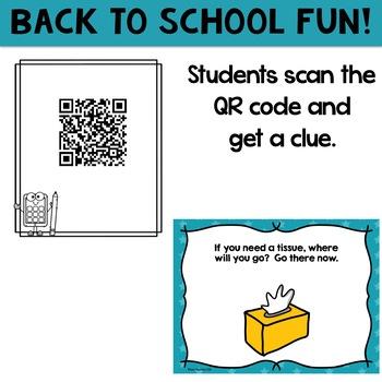 Freebie: Back to School Classroom QR Code Scavenger Hunt