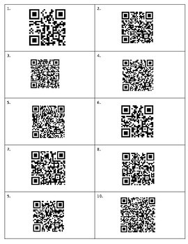 Back to School QR Code Scavenger Hunt: Letter of Introduction