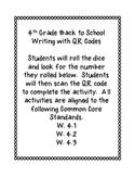 Back to School QR Code Writing