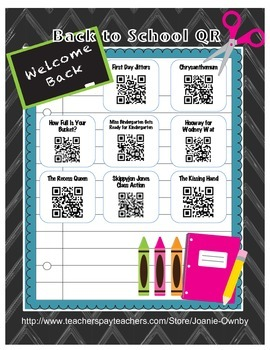 Back to School QR Fun