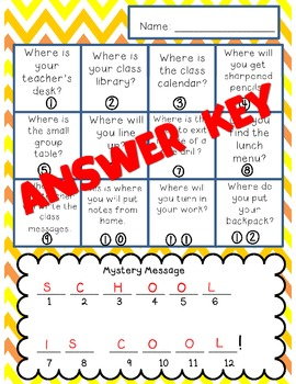 Back to School QR code Scavenger Hunt