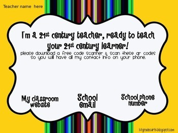 Back to School QR code welcome sign
