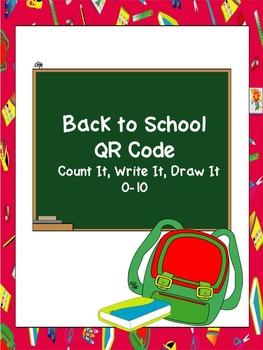 Back to School Qr Code Count It, Write, It, Draw it 0-10