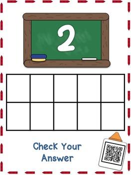 Back to School Qr Code Ten Frame 0-10