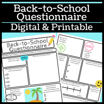 Back-to-School Questionnaire