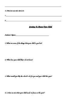 Back to School Questionnaires for Students and Parents (English & Spanish)