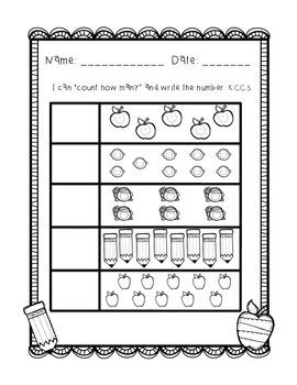 Kindergarten Back to School Quick Assessments