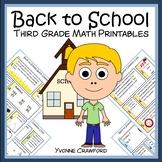 Back to School No Prep Common Core Math (3rd grade) Distan