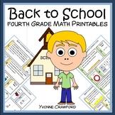 Back to School No Prep Common Core Math (4th grade)