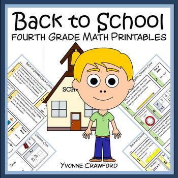 Back to School No Prep Common Core Math (4th grade) Distance Learning