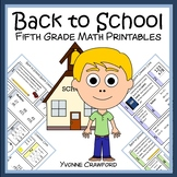 Back to School No Prep Common Core Math (5th grade)