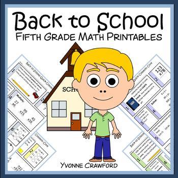 Back to School No Prep Common Core Math (5th grade)