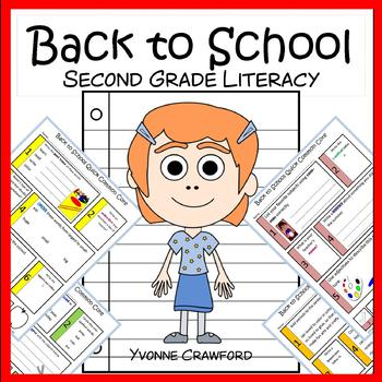 Back to School No Prep Common Core Literacy (2nd grade)