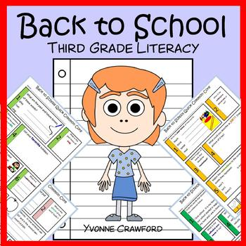 Back to School No Prep Common Core Literacy (3rd grade)