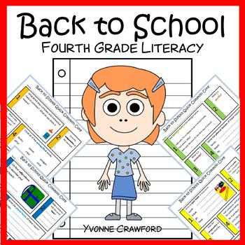 Back to School No Prep Common Core Literacy (4th grade)