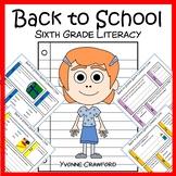 Back to School No Prep Common Core Literacy (6th grade)