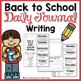 Back to School Quick Writes Writing Journal