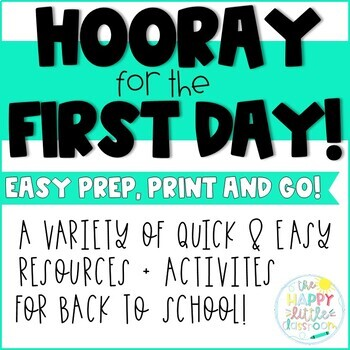 Back to School! Quick and easy activities for the first week of school!