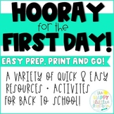 Back to School! Quick and easy activities for the first we