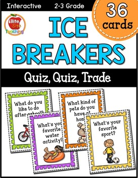 Back to School Ice-Breakers