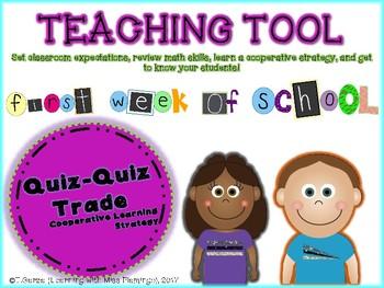 Back to School Quiz-Quiz Trade Cooperative Learning Activity
